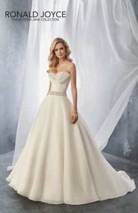 Jean - A STRAPLESS MIKADO BALL GOWN WITH A BEADED NECKLINE AND BELT