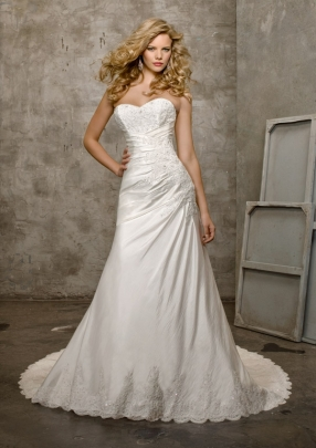 Style 4202 - Luxe Taffeta and Lace Wedding Dress