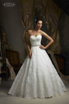 Style 5115 - Alencon Lace Wedding Dress