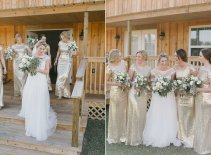 Gold Sequin Bridesmaids Dresses New Years Eve Wedding