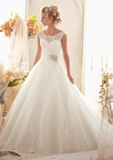 MORI LEE 2607 - SIZE 16 - WAS £1197 - NOW £350